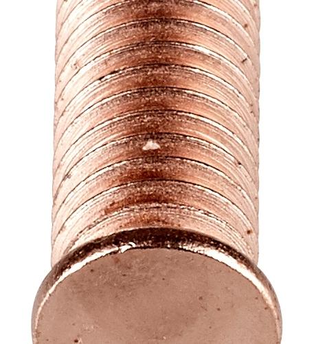 Goujon à souder par ARC tiré temps court, acier cuivré ou en inox