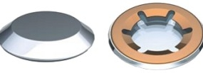 Starlock Steel or Stainless Steel Washers with stainless steel cap