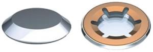 Rondelles de blocage Starlock® Acier ou Inox avec capuchon Inox