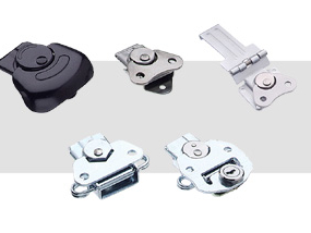 Rotary drawer latches