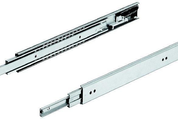 Glissière à sortie totale 037 à amortisseur intégré Soft Control (Profil 16 x 57,5 mm)