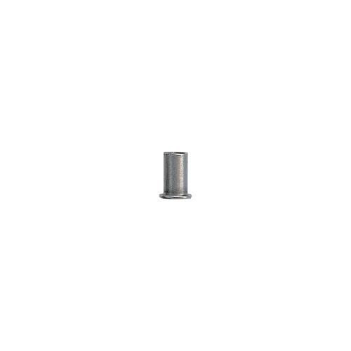 Ecrou à sertir en aveugle Tête Plate Fût Cylindrique Lisse